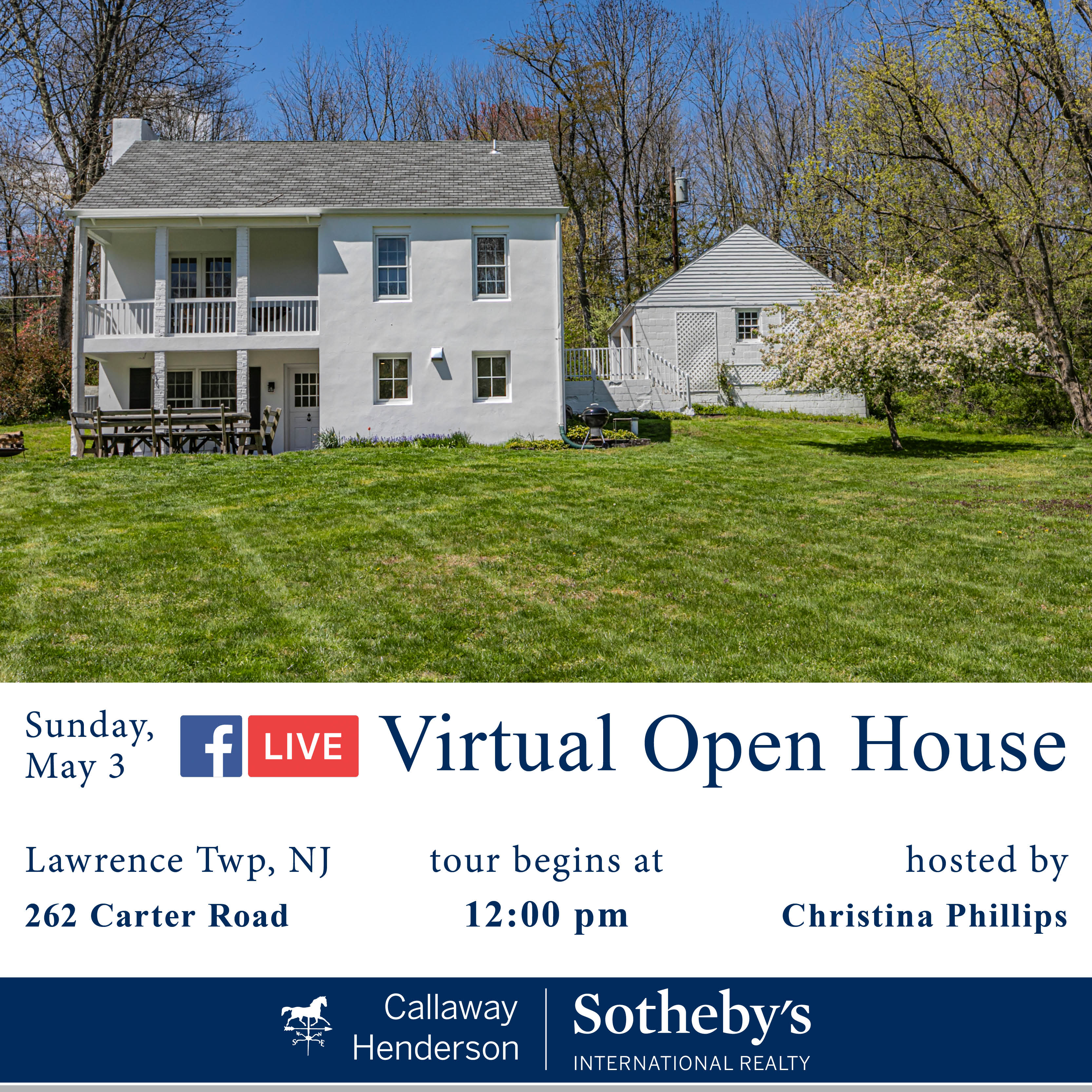 Live Virtual Open House-200503 1200-Carter Road 262 v2